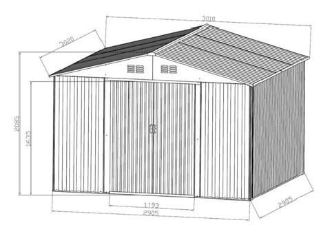 gartenhaus ger teschuppen 9 09m aus verzinktem stahlblech. Black Bedroom Furniture Sets. Home Design Ideas