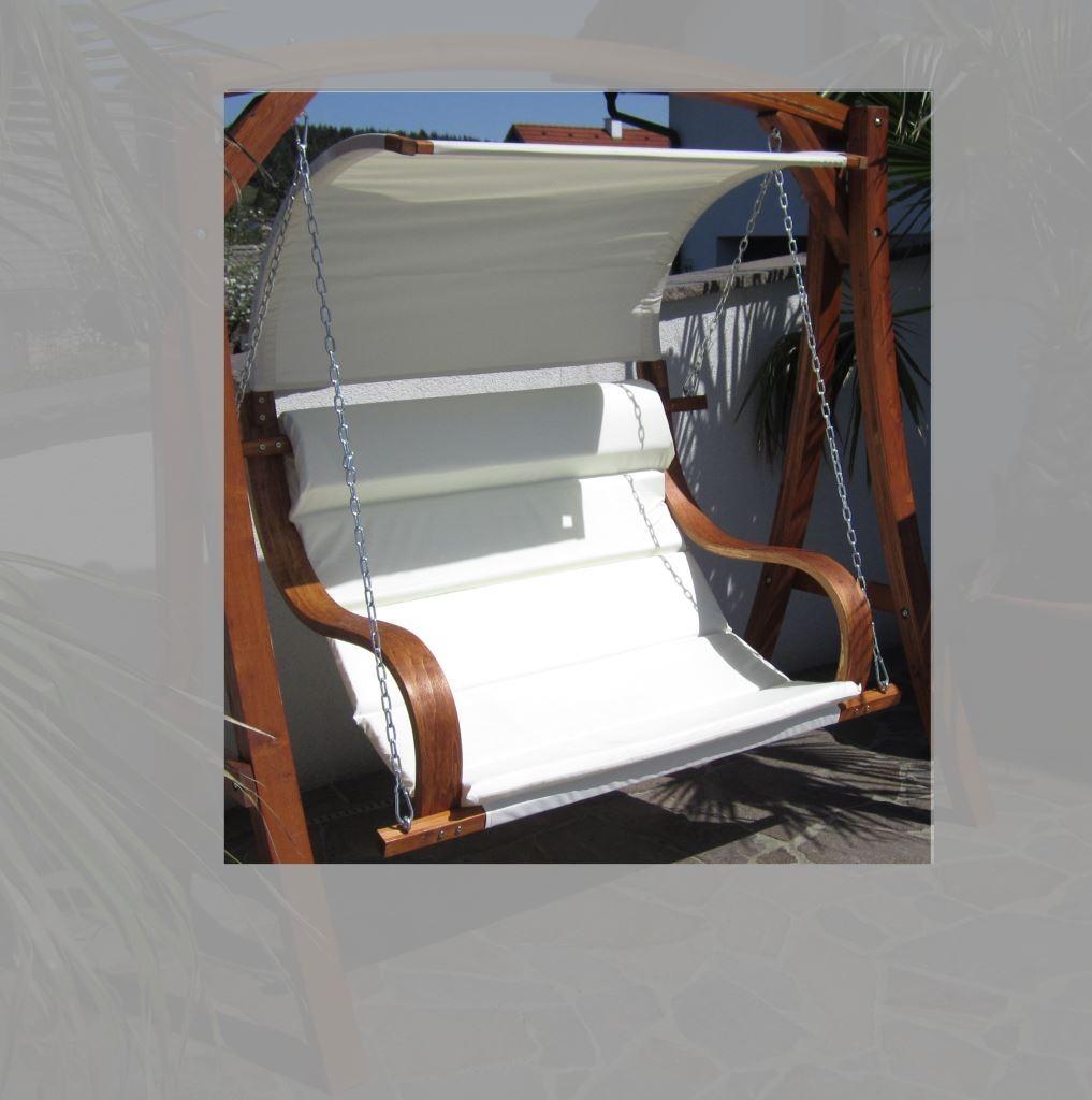 design sitzbank f r hollywoodschaukel aus holz l rche inkl dach modell seat meru ohne. Black Bedroom Furniture Sets. Home Design Ideas